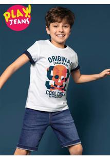 Conjunto Infantil Menino Com Camiseta E Bermuda Hering Kids Play Jeans