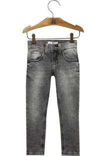 Calça John John Kids Skinny Benjamin Moletom Jeans Preto Masculina (Jeans Black Claro, 10)