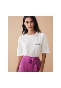 Amaro Feminino T-Shirt Oversized Sunkissed, Off-White