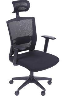 Cadeira Office New Ergon- Preta- 123,5X59,5X52Cmor Design
