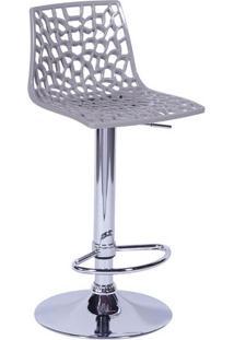 Banqueta Spider- Cinza Claro & Prateada- 102X37X34Cmor Design