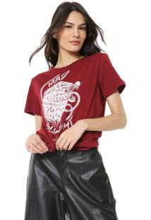 Camiseta Colcci Estampada Vinho