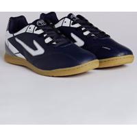 3284a5b7621 Lojas Pompeia. Tênis Futsal Masculino Topper Cup Ii Azul Marinho Branco