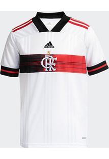 Camisa Flamengo Infantil Ii 20/21 S/Nº Torcedor Adidas - Masculino-Branco