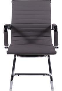 Cadeira De Escritório Esteirinha Fixa - Cinza