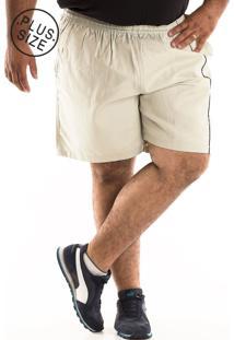 Bermuda Konciny Sarja Plus Size Bege - Bege - Masculino - Dafiti