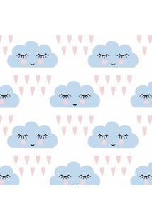 Papel De Parede De Nuvens- Azul Claro & Rosa Claro- Jmi Decor