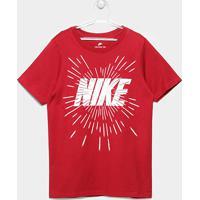 Camiseta Infantil Nike B Nsw Space Block Masculina - Masculino-Vermelho+ Branco cb6a260b7128e