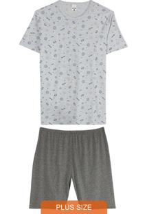 Pijama Cinza Esporte Masculino Plus