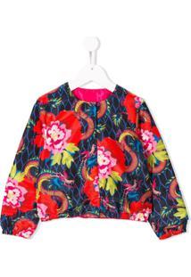 Kenzo Kids Jaqueta Com Estampa Floral - Vermelho