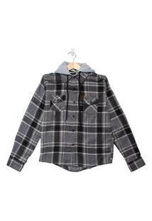 Camisa Xadrez Infantil Gangster Menino Preto