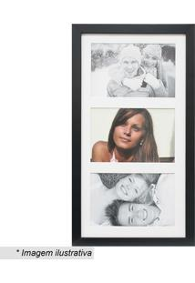Painel Insta Para 3 Fotos- Preto & Branco- 38X21X1,5Kapos