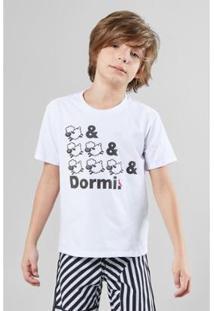 Camiseta Infantil Dormi Reserva Mini Masculina - Masculino-Branco