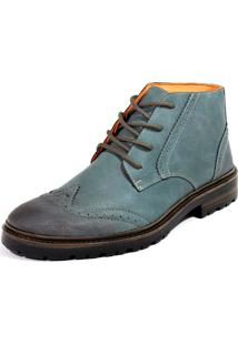 Bota Cano Baixo Dhl Calçados Masculina Azul