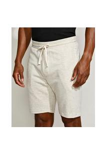 Bermuda De Moletom Masculina Relaxed Off White
