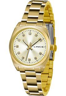 Relógio Lince Analógico Lrr4447Lr2Rx Feminino - Feminino-Dourado