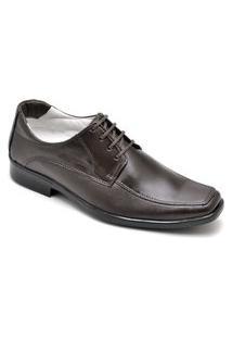 Sapato Social Masculino Elegante Em Couro - Café 020Rt