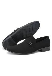 Sapato Masculino San Lorenzo Social Preto Nobuck