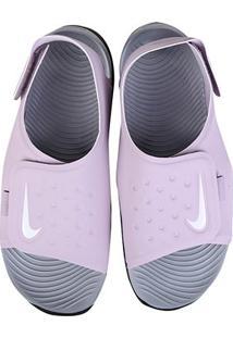 Sandália Infantil Nike Sunray Adjust 5 - Masculino-Lilás+Branco