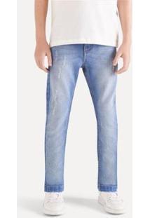 Calça Jeans Infantil Reserva Skinny Lavagem Inv20 Masculina - Masculino-Azul Escuro