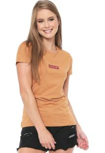 Camiseta Hurley Hot Box Caramelo