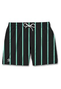 Bermuda Short Mauricinho Masculino Listrado Verde E Preto