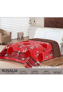 Cobertor Casal Dupla Face Duplo - Rosalia