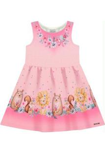 Vestido Malha Favoritos Rosa