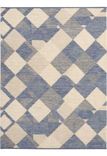 Tapete Art Boucle Jeans- Bege & Azul- 150X100Cm-Tapete São Carlos