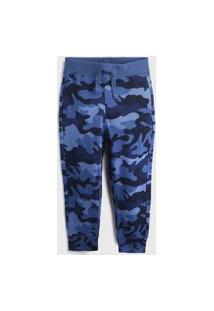 Calça Gap Menino Camuflada Azul