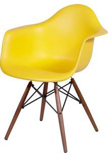 Cadeira Eames Com Braco Base Escura Amarela Fosco - 44880 - Sun House