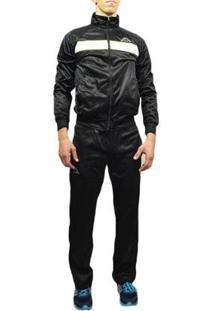 Agasalho Kappa Sportswear Caravaggio Elanca Masculino - Masculino-Preto