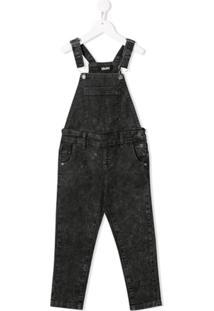 Molo Kids Jardineira Jeans - Cinza