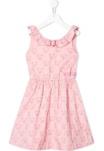 Moschino Kids Vestido Com Bordado Teddy Bear - Rosa