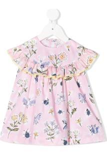 Il Gufo Vestido Com Estampa Floral - Rosa