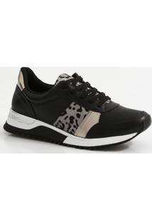 Tênis Feminino Sneaker Plataforma Recorte Via Marte