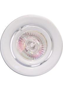 Spot Dicróica Dirigível Aço Com Pintura Eletrostática Mr16 50W 220V Branco