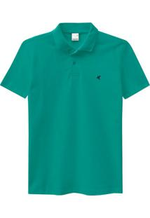 Camisa Verde Polo Slim Piquê Premium