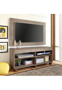 Rack Com Painel Para Tv 47 Polegadas Cross 120 Cm Canela