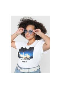 Camiseta Fiveblu Nasa Branca