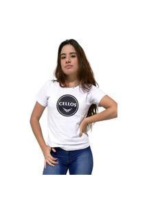 Camiseta Feminina Cellos Bowl Premium Branco