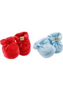 Kit Sapatinho Girelli Baby Vermelho/Azul