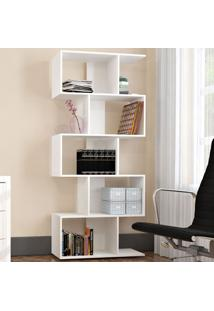 Estante Para Livros Office Plus 5 Nichos Branco - Appunto
