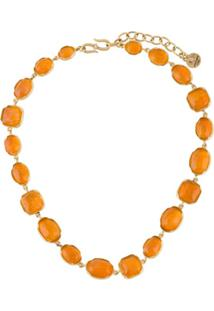 Goossens Cabochons Gemstone Necklace - Laranja