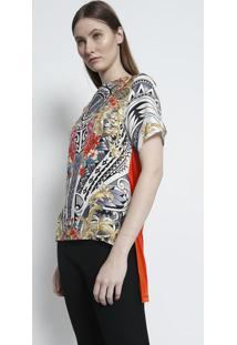 Camiseta Versace Collection - Laranja & Branca - Verversace Collection