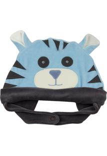 Touca Ano Zero Bebê Plush Tigre Azul