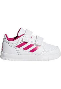 cf70054603ec5 Tênis Infantil Adidas Altasport Cf Velcro - Feminino-Branco+Rosa ir para a  loja