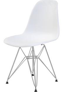 Cadeira Eames Eiffel Pp Branca Base Cromada - 44169 - Sun House