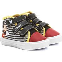 acfcea4c18 Tênis Disney Cano Alto Mickey Menino Infantil - Masculino-Vermelho+Preto