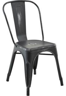 Cadeira De Jantar Iron Vintage Preta